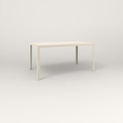 RAD Signature Table in slatted steel and off-white powder coat.