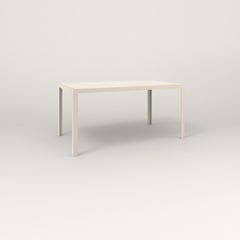 RAD Signature Table Slatted Steel Dining in off-white powder coat.