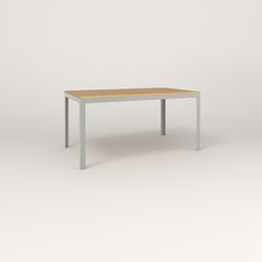RAD Signature Table in solid white oak and grey powder coat.