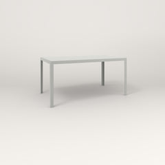RAD Signature Table Slatted Steel Dining in grey powder coat.