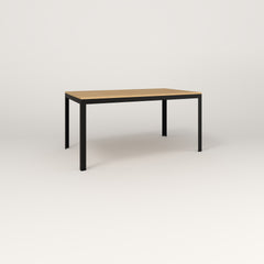 RAD Signature Table in solid white oak and black powder coat.