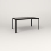RAD Signature Table Slatted Steel Dining in black powder coat.