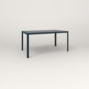 RAD Signature Table in slatted steel and navy powder coat.