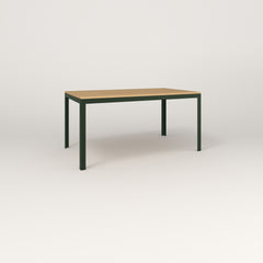 RAD Signature Table in solid white oak and fir green powder coat.