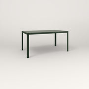 RAD Signature Table Slatted Steel Dining in fir green powder coat.