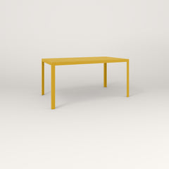 RAD Signature Table in perforated steel and yellow powder coat.