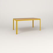 RAD Signature Table in solid white oak and yellow powder coat.