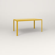 RAD Signature Table Slatted Steel Dining in yellow powder coat.