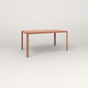 RAD Signature Table in slatted steel and coral powder coat.