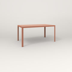 RAD Signature Table Slatted Steel Dining in coral powder coat.