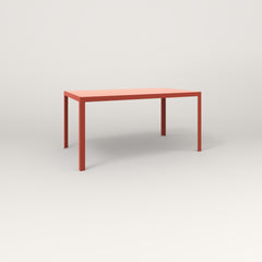 RAD Signature Table Slatted Steel Dining in red powder coat.