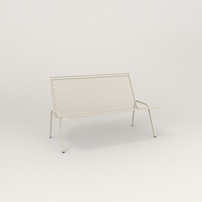 RAD Signature Fireside Lounge in perforated steel and off-white powder coat.