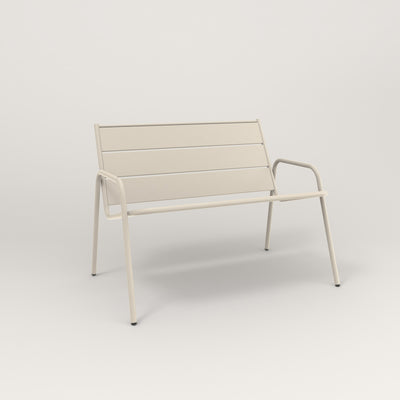 RAD Signature Lounge Chair in slatted steel and off-white powder coat. Large size.