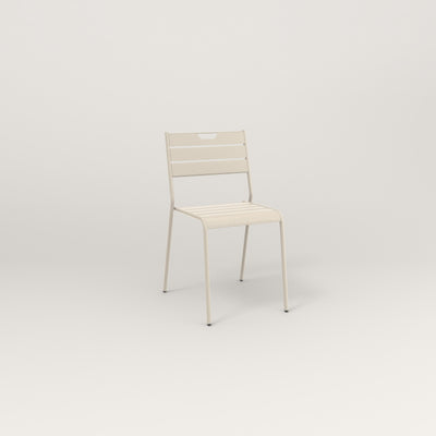 RAD Signature Dining Chair Slatted Steel in off-white powder coat.