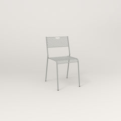 RAD Signature Dining Chair in perforated steel and grey powder coat.