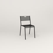 RAD Signature Dining Chair in perforated steel and black powder coat.