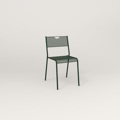 RAD Signature Dining Chair in perforated steel and fir green powder coat.