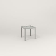 RAD Signature Simple Stool in perforated steel and grey powder coat.