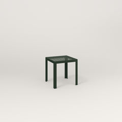 RAD Signature Simple Stool in perforated steel and fir green powder coat.