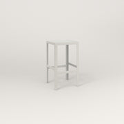 RAD Signature Simple Stool in perforated steel and white powder coat.