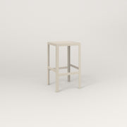 RAD Signature Simple Stool in perforated steel and off-white powder coat.