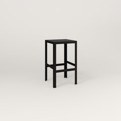 RAD Signature Simple Stool in perforated steel and black powder coat.