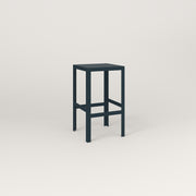 RAD Signature Simple Stool in perforated steel and navy powder coat.