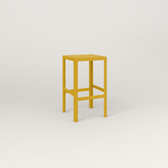 RAD Signature Simple Stool in perforated steel and yellow powder coat.