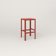 RAD Signature Simple Stool in perforated steel and red powder coat.