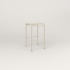 RAD Signature Bent Tube Stool in perforated steel and off-white powder coat.
