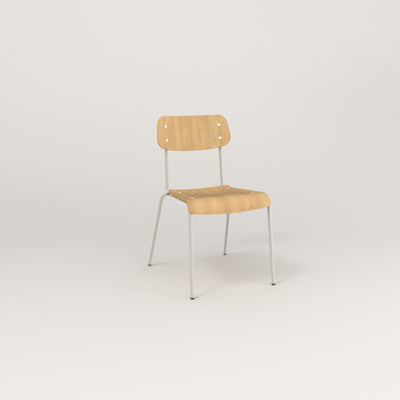 RAD School Chair in bent plywood and white powder coat.