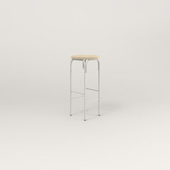 RAD School Simple Stool, Upholstered in white powder coat.
