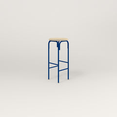 RAD School Simple Stool, Upholstered in new blue powder coat.