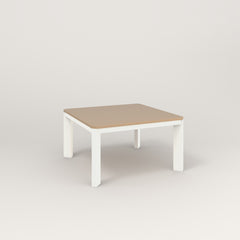 RAD Solid Coffee Table in tricoya and white powder coat.
