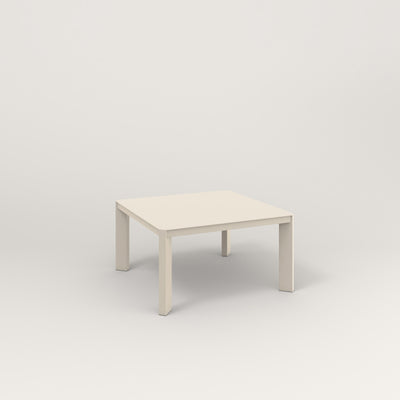 RAD Solid Coffee Table in solid steel and off-white powder coat.