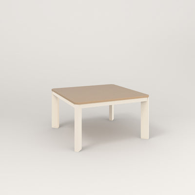 RAD Solid Coffee Table in tricoya and off-white powder coat.