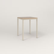 RAD Solid Square Cafe Table, in tricoya and off-white powder coat.
