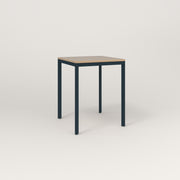 RAD Solid Square Cafe Table, in tricoya and navy powder coat.