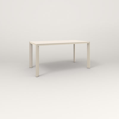 RAD Solid Table in solid steel and off-white powder coat.