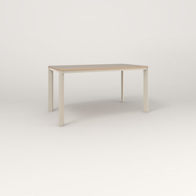 RAD Solid Table in tricoya and off-white powder coat.