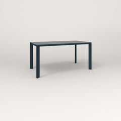 RAD Solid Table in solid steel and navy powder coat.
