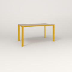 RAD Solid Table in tricoya and yellow powder coat.
