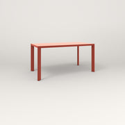 RAD Solid Table in solid steel and red powder coat.