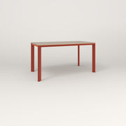 RAD Solid Table in tricoya and red powder coat.