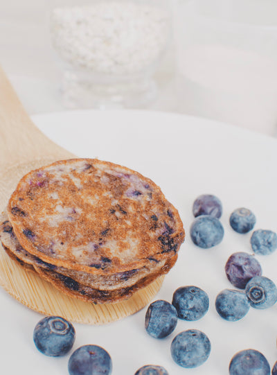 Blueberry + Coconut Pancakes