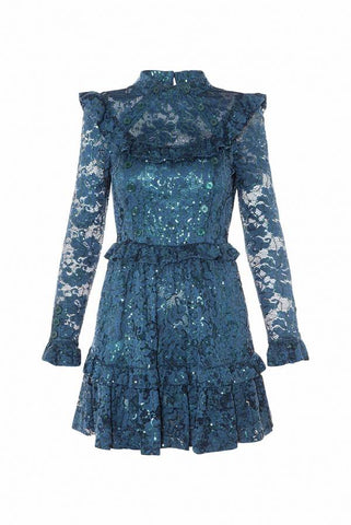 Image of VESTIDO ENCAJE SEQUINS HIGHLY PREPPY