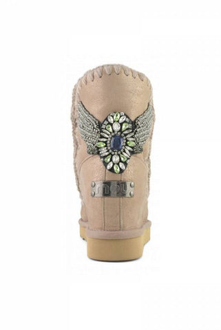 Image of BOTA MOU INNER WEDGE SHORT EAGLE PATCH ROSA SATINADA