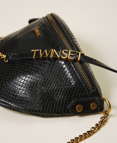 Image of Bolso Twinset Bandolera Piel Animal Print