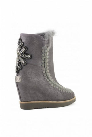 Image of BOTAS MOU FRENCH TOE WEDGE BACK PATCH CROSS DUST IRON