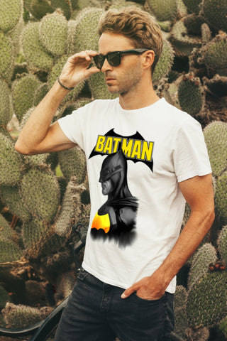 Image of camiseta blanca batman unisex